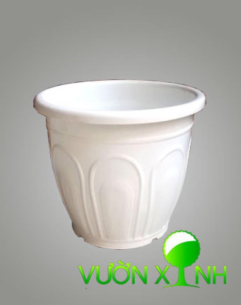 Chậu nhựa tròn trắng T30-26
