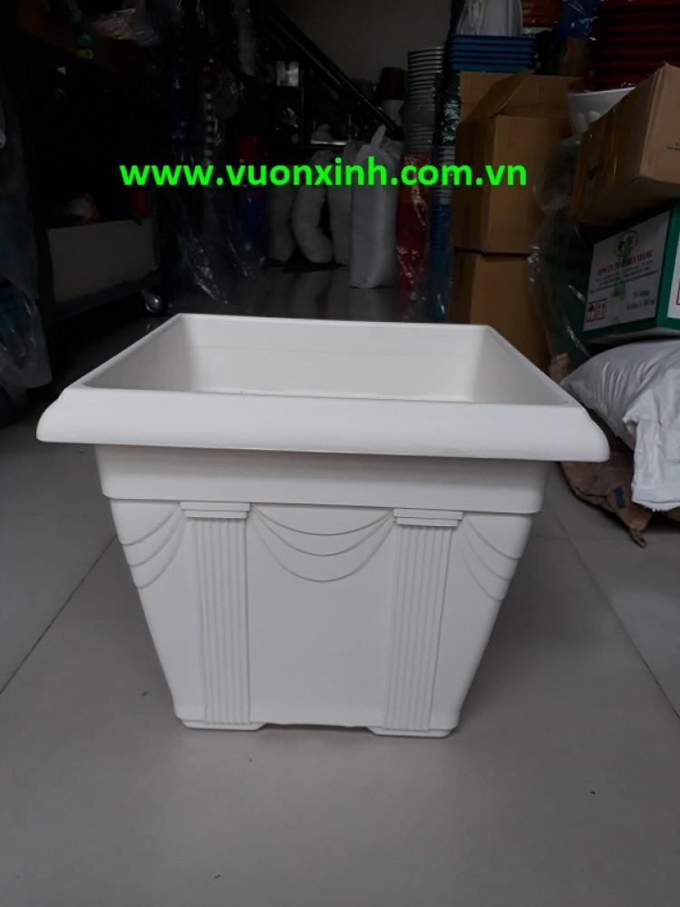 Chậu vuông trắng V36-32