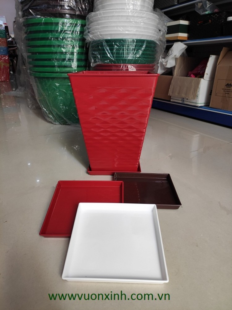 Đĩa nhựa vuông 23x23x2