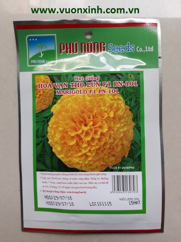 Hoa Vạn Thọ lùn F1 PN-101 (Vàng)