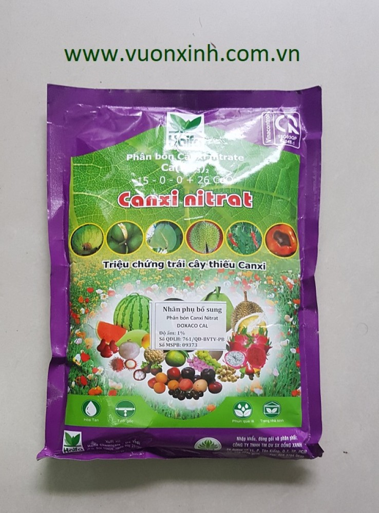 Phân bón Canxi nitrat - Ca(NO3)2